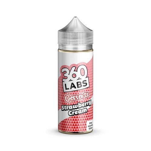 360 LAB Strawberry Cream 100 ML 0MG