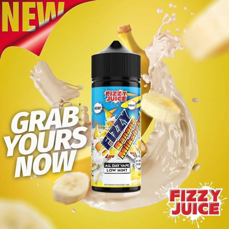 Fizzy Juice Banana Milkshake 0mg 100ml