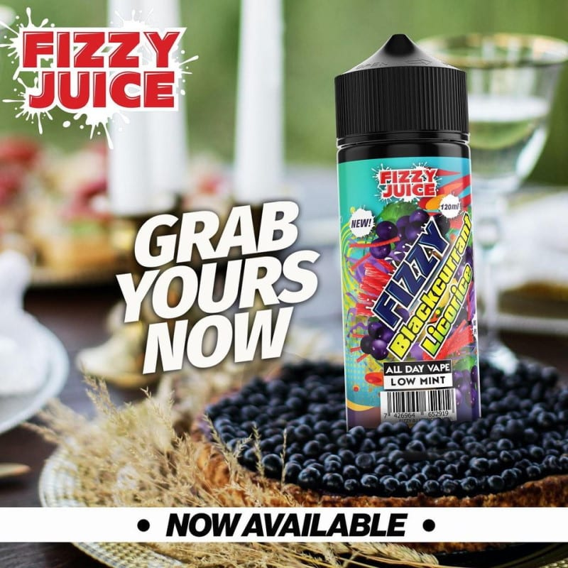 Fizzy Juice Blackcurrant Licorice 0mg 100ml