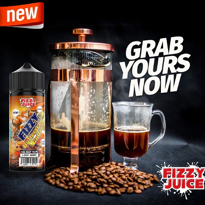 Fizzy Juice Butterscotch Coffee 0mg 100ml