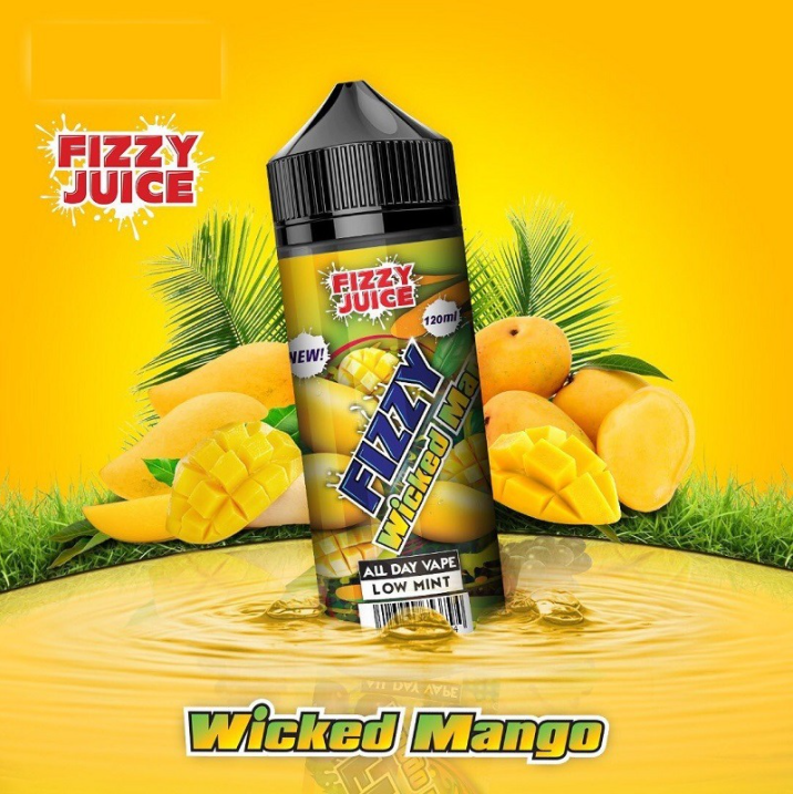 Fizzy Juice Wicked Mango 0mg 100ml