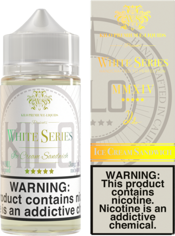 KILO White Series - Ice Cream Sandwich 100ml