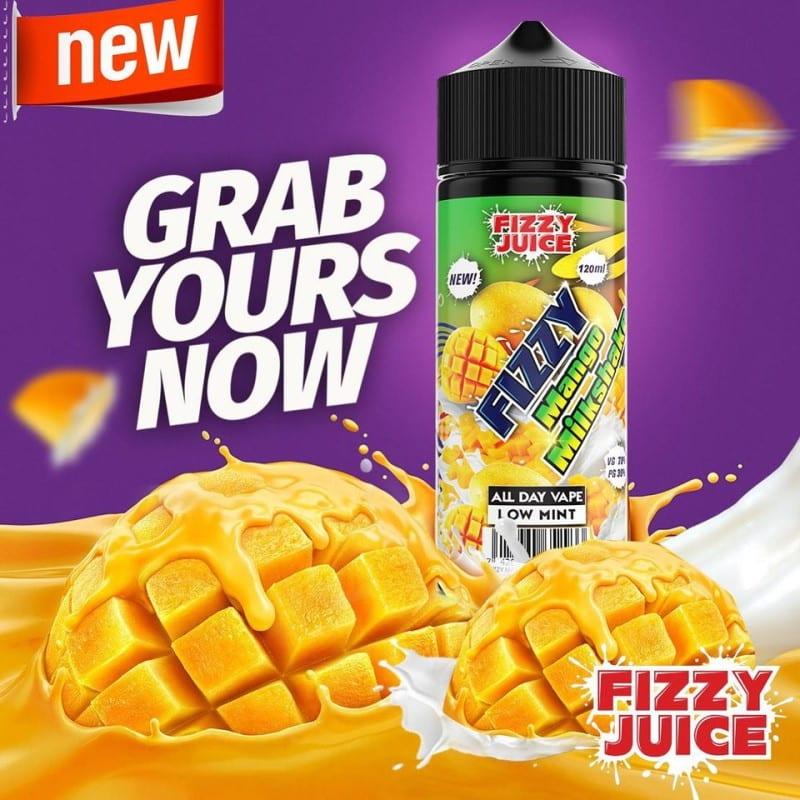 Fizzy Juice Mango Milkshake 0mg 100ml