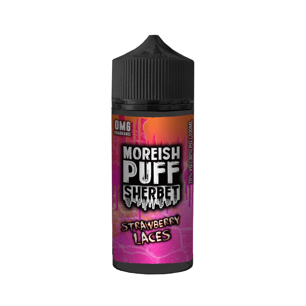 Moreish Puff Sherbet - Strawberry Laces 100ml