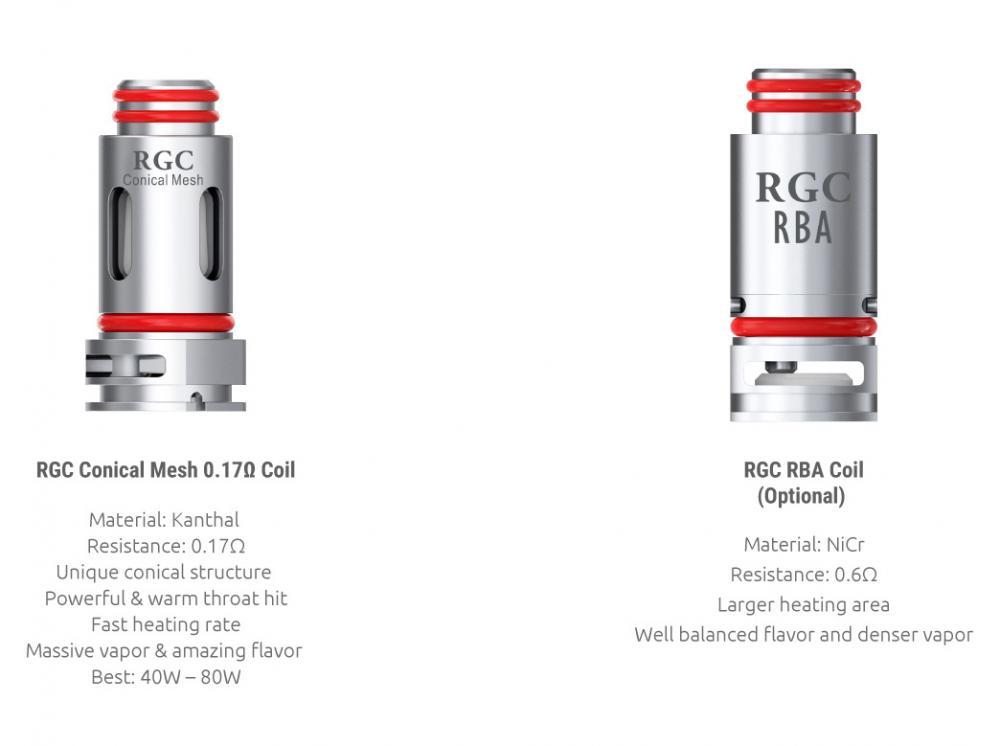 SMOK RGC Coils & RBA