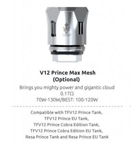 SMOK V12 Prince Max Mesh