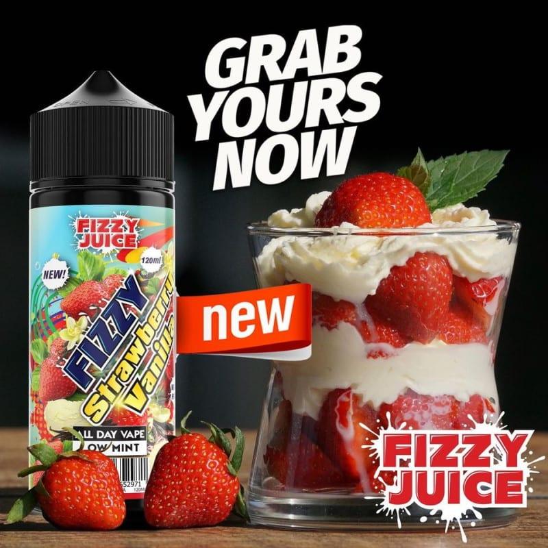 Fizzy Juice Srawberry Vanilla 0mg 100ml