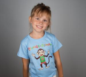 Djungelgympa t-shirt, ljusblå