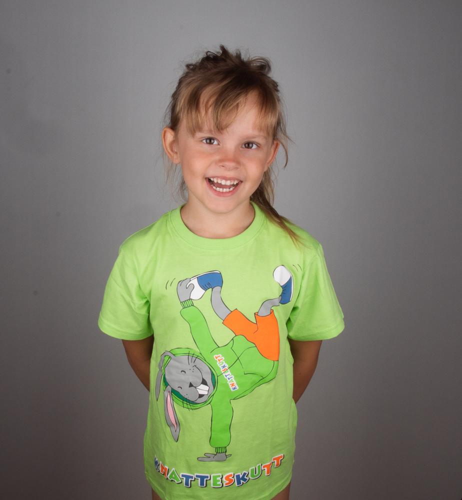 Knatteskutt t-shirt grön Breakdance