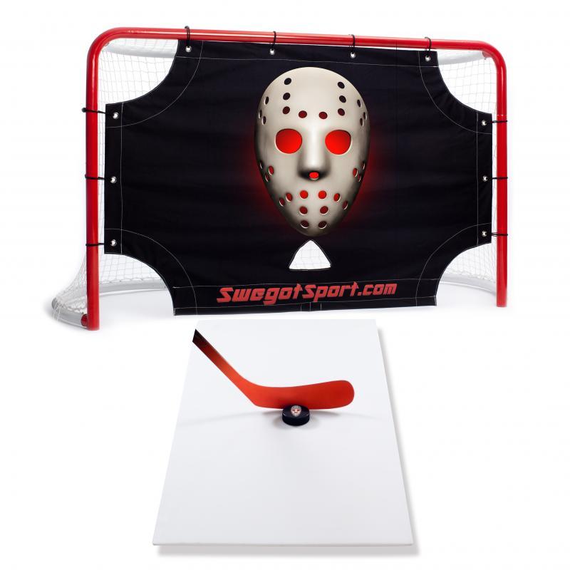 Off-ice hockeypaket - hockeymålbur, målvaktsduk och skottplatta. Swegotsport