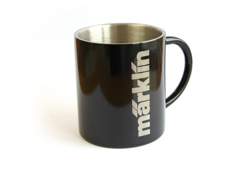 Märklin 012415 Aluminiummugg Kaffe mugg Märklin Logo Nyhet
