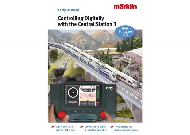 """Märklin 03093 Kontrollera Digitalt med Central Station 3"""" Model Railroad Manual Nyhet 2021 Förboka ditt exemplar"""