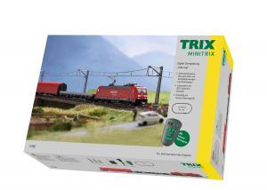 """Trix Minitrix 11145 Startset med Ellok (DB AG) class 185.2 """"Freight Train"""""""