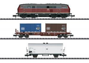 Trix Minitrix Startset 11146 DB Diesellok Class 216 med godsvagnar samt oval bana Nyhet 2020