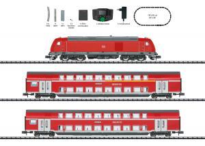 "Trix Minitrix 11148 Startset Diesellok  ( DB AG) "" Regional Express "" DCC Ljud Nyhet 2021 Förboka ditt exemplar"