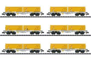 Trix Minitrix 15075 Containervagnsset AAE type Sgmmns 190 Nyhet 2020 Förboka ditt exemplar