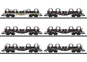 Trix 15080 Vagnsset type Sgmmnss med metallrullar till last Nyhet 2020 Förboka ditt exemplar