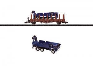 Trix 15288 Stolpvagn med lastbil