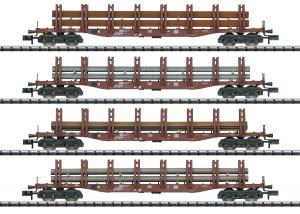 Trix Minitrix 15484 Vagnset ståltransport (DB) type Snps 719 Nyhet 2020