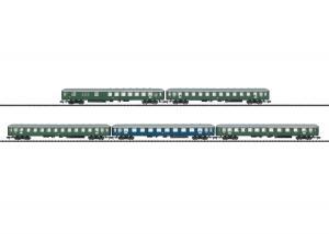 Trix 15548 Personvagnset Express AB4üm-63 A4üm-54 B4üm-54 B4üm-63 BD4üm-61 DB
