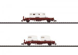 Trix 15631 Godsvagnar lastade med husvagnar (NS)
