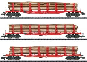 Trix 15930 Vagnset (DB AG) type Snps 719 double stake cars