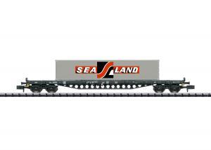 Trix Minitrix 18087 Containervagn (DB) type Rs 683 flat car Nyhet 2020 Förboka ditt exemplar