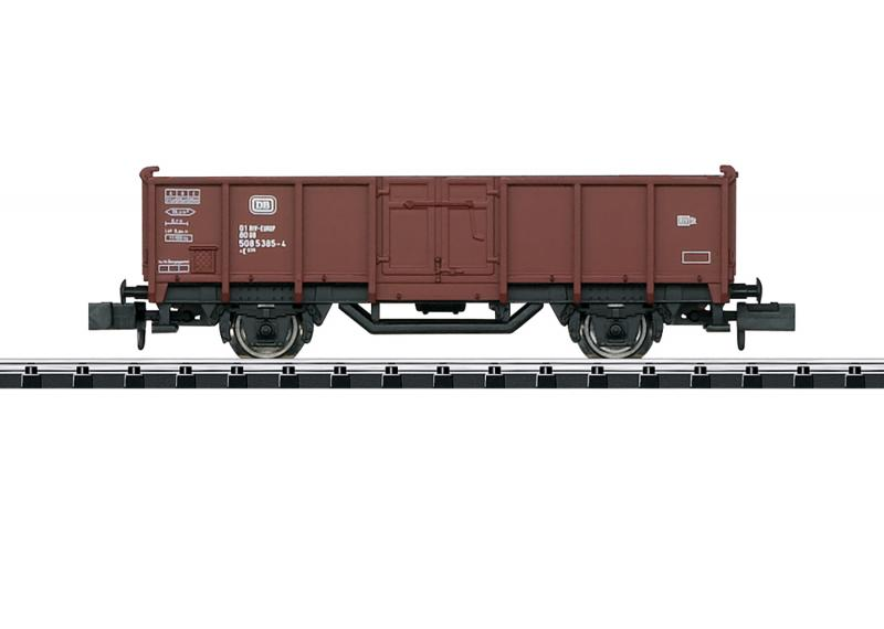 Trix Minitrix 18088 Tysk Godsvagn (DB) type E 040 high side gondola Nyhet 2020