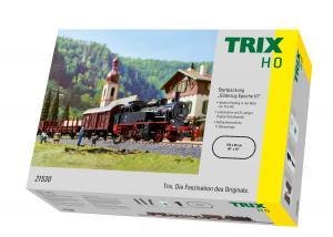 """Trix 21530 Startset Ånglok (DB) class 74 """"Era III Freight Train"""""""