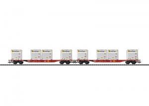 Trix 24110 Flakvagnset Sgns 691 Container