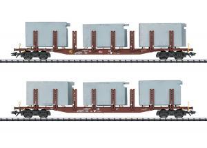 Trix 24141 Godsvagnset (DB AG) type Snps 719