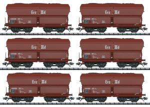 """Trix 24150 Godsvagnset med 6st ( DB ) type Fad 155 """" Erz IIId """" Langer Heinrich Nyhet 2021 Förboka ditt exemplar"""