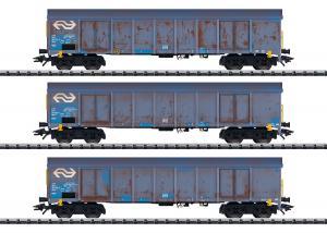 Trix 24367 Godsvagnset type Ealnos 201 high side gondolas used by NS Cargo Nyhet 2020 Förboka ditt exemplar