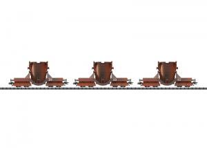 Trix 24413 Godsvagnset för flytande stål DB Schlackewagen