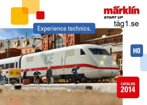 244343 Märklin Start up Katalog 2014 Engelsk text