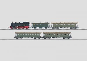 26542 Württembergskt persontåg: Tanklok och 4 plattformsvagnar
