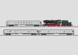 "26543 Tågset ""Wendezug"" Ånglok BR 23 med 3 personvagnar DB mfx ljud"