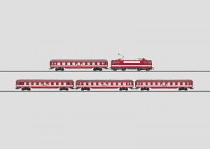 """28590 Tågset """"Le capitol"""" Ellok BB 9200 4 st personvagnar SNCF"""