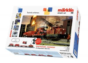 """Märklin 29722 Startset med Ellok EA 500 """" Brandkår """" """"Fire Department"""" Nyhet"""