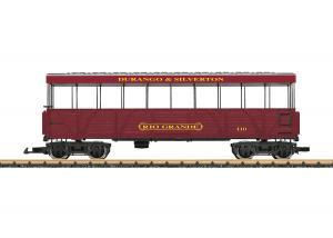 """LGB 30261 D&S RR """"Rio Grande"""" Open-Air Observation vagn"""