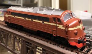 Märklin 3143.1 Diesellok NSB NOHAB Di 3.605 Begagnad i fint skick år 1983
