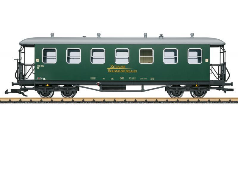 """LGB 36356 Personvagn SOEG """" Zittau Narrow Gauge Railroad """" Sommarnyhet 2021 Förboka ditt exemplar"""