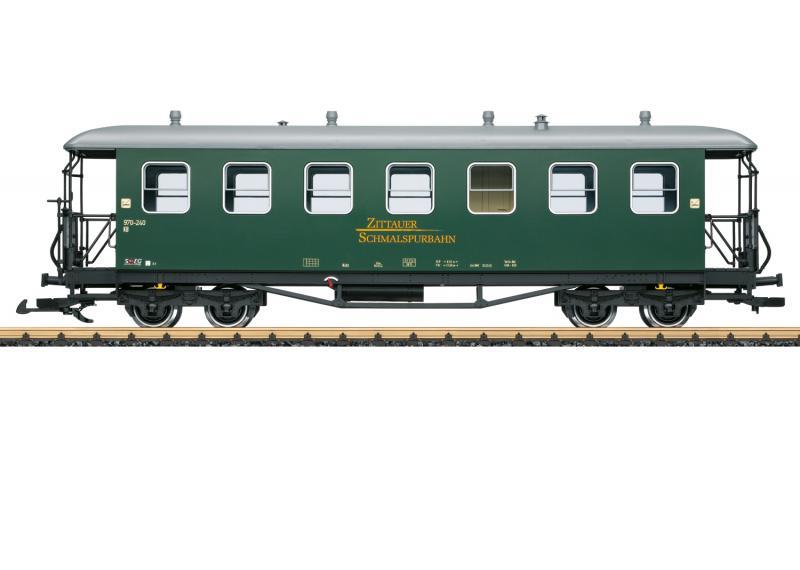 """LGB 36357 Personvagn SOEG """" Zittau Narrow Gauge Railroad """" Sommarnyhet 2021 Förboka ditt exemplar"""