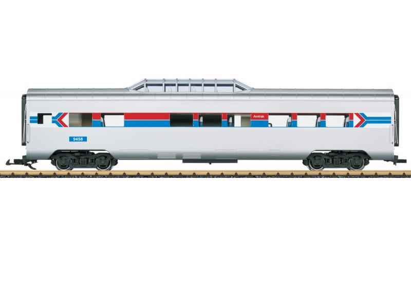 """LGB 36603 Amerikansk Utsiktsvagn Amtrak 9458 """"50 Years of Amtrak"""" Nyhet 2021 Förboka ditt exemplar"""