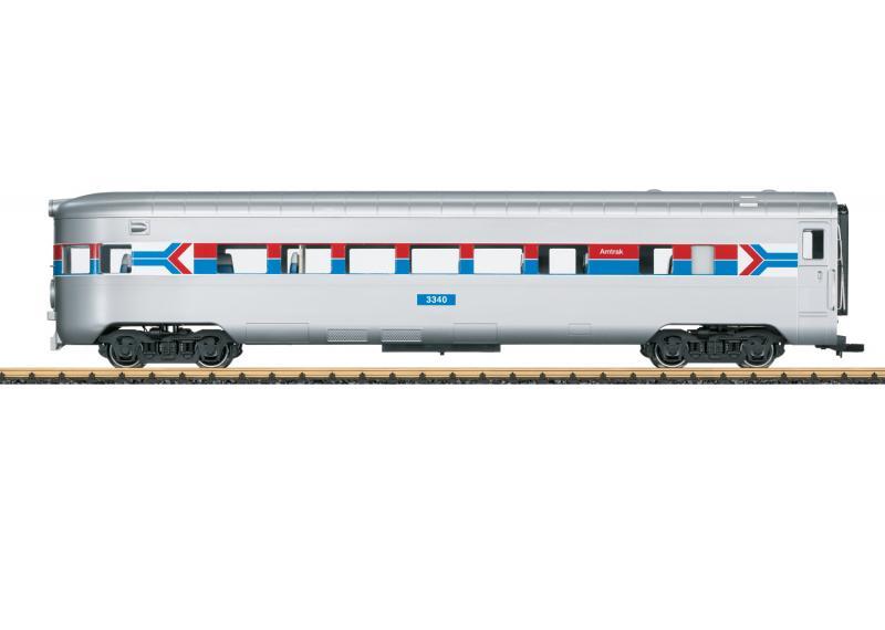 """LGB 36605 Amerikansk Observationsvagn Amtrak 3340 """"50 Years of Amtrak"""" Nyhet 2021 Förboka ditt exemplar"""