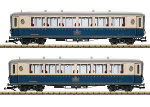 """LGB 36658 Vagnset med 2 personvagnar """" Alpine Classic Pullman Express """" Nyhet 2021 Förboka ditt exemplar"""