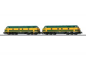 Märklin 37602 Dubbelset med Diesellok Class 55  ( SNCB / NMBS ) Nyhet 2021