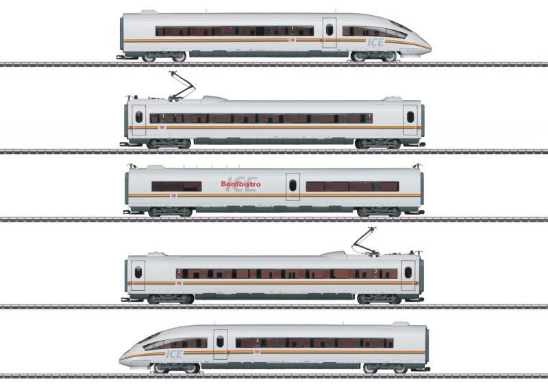 """Märklin 37784 ICE 3 Powered Rail Car Train Class 403 """" Railbow """" Höstnyhet 2021 Förboka ditt exemplar"""