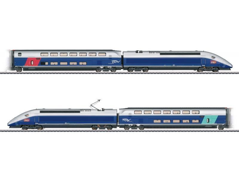 Märklin 37793 Franskt snabbtåg (SNCF) TGV Euroduplex MFX DCC Ljud Nyhet 2021 Förboka ditt exemplar
