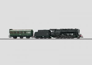 37887 Godstågsånglok med manskapsvagn Serie 150 X